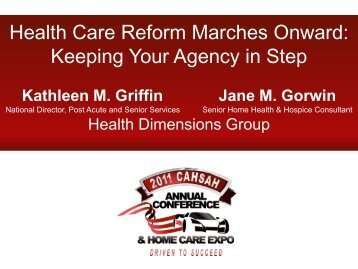 Health Care Reform Marches Onward: Keeping Your Agency in Step