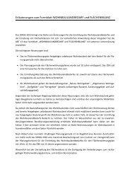 Erläuterungen zum Formblatt WOHNBAULANDBEDARF und ...