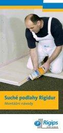 Suché podlahy Rigidur - montážní návody - Rigips