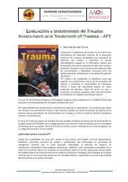 Evaluación y Tratamiento de Trauma -ATT - Trekkingchile.com