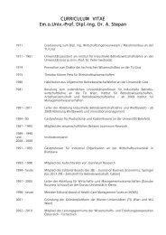 Curriculum Vitae - IMW