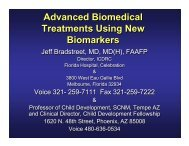 Advanced Biomedical Treatments Using New Biomarkers ... - icdrc
