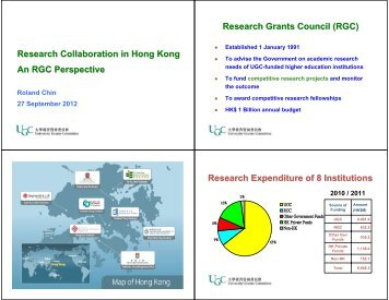 Research Collaboration in Hong Kong An RGC ... - Education UK