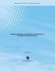 Guide de préparation du rapport de caractérisation et du rapport de l ...