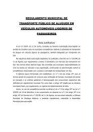 regulamento municipal de transporte público de aluguer em ...