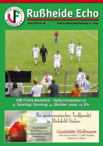 SpVg Emsdetten 05 9. Spieltag - VfB Fichte Bielefeld