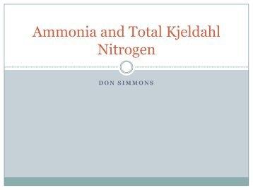 Ammonia and Total Kjeldahl Nitrogen