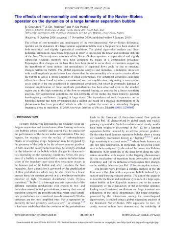 The effects of non-normality and nonlinearity of the Navier–Stokes ...