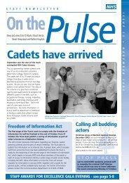 On the pulse october - West Hertfordshire Hospitals NHS Trust