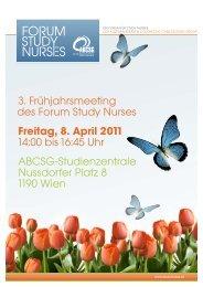 Einladung zum 3. Frühjahrsmeeting - Forum Study Nurses ...
