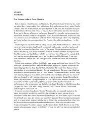 MY LIFE MY MUSIC Pete Johnson talks to Jonny Simmen Born in ...