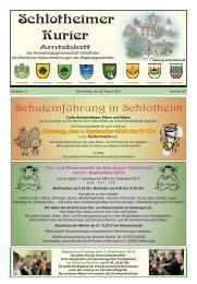 Amtsblatt - Verwaltungsgemeinschaft Schlotheim