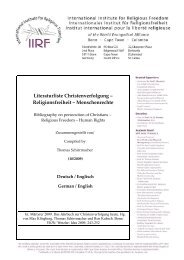 Literaturliste Christenverfolgung - International Institute for Religious ...
