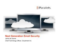 Next Generation Email Security for Hosting Companies - Parallels