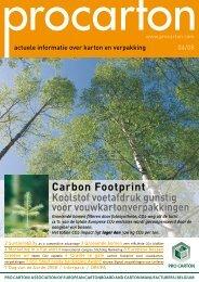 Carbon Footprint Koolstof voetafdruk gunstig voor ...
