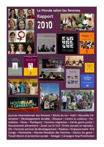 Rapport 2010 - Le Monde selon les femmes