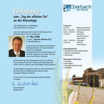 """zum """"Tag der offenen Tür"""" an der Kläranlage - Eberbach-Channel"""