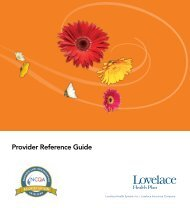 Provider Reference Guide - Lovelace Health Plan