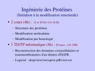 Ingénierie des Protéines - LISM