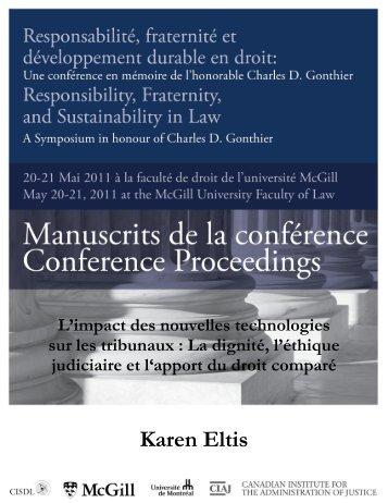 Karen Eltis - CISDL