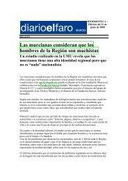 Las murcianas consideran que los hombres de la Región son ...