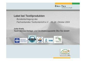 Label bei Textilprodukten - ViBiNeT