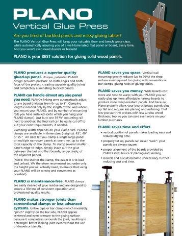 your PLANO Vertical Glue Press Brochure - Advanced Machinery