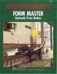 Cincinnati Form Master Hydraulic Press Brakes Brochure - Sterling ...