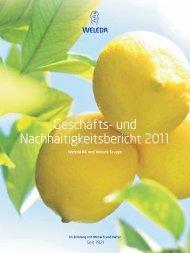 Geschäfts- und Nachhaltigkeitsbericht 2011 - Weleda