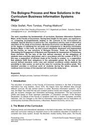 The Bologna Process and New Solutions in the Curriculum ...