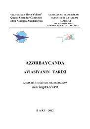 Azərbaycanda aviasiyanın tarixi - Azərbaycan Milli Kitabxanası