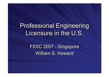FIDIC 2007 Singapore: William Howard