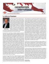 Mars - Conseil international d'études canadiennes