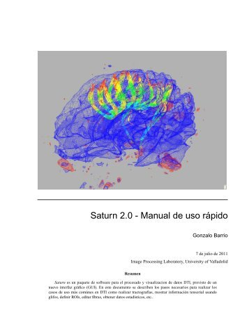 Saturn 2.0 - Manual de uso rápido - Laboratorio de Procesado de ...