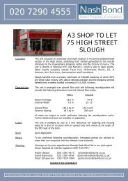 A3 SHOP TO LET 75 HIGH STREET SLOUGH - RPAS