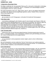 VERMIETUNG - (AGB) - Wohnwagen - Meier