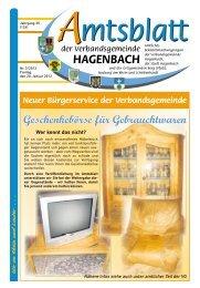 Vereine - Verbandsgemeinde Hagenbach