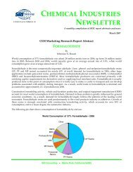 Chemical Industries Newsletter—January 2007 - Chemical Insight ...