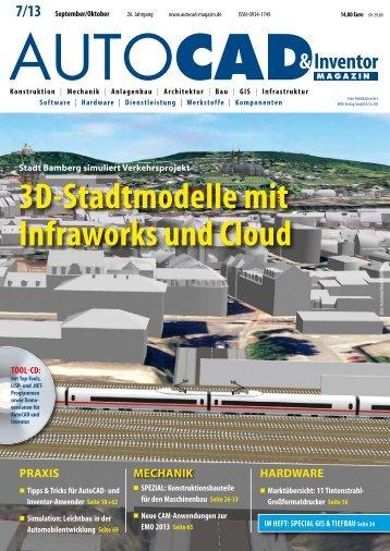 3D-Stadtmodelle mit Infraworks und Cloud - AUTOCAD Magazin