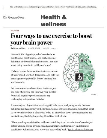 Four ways to use exercise to boost your brain power.pdf - John Ratey