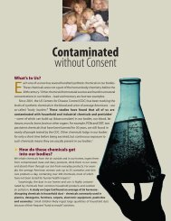 2. Contaminated Without Consent - Alliance for a Healthy Tomorrow