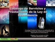 Ponencia Catálogo de Servicios y Prestaciones de la Ley