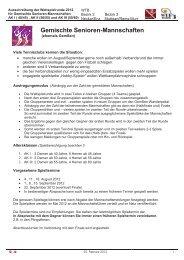 Informationen Gemischte Mannschaften AK I - WTB