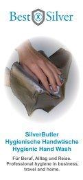 SilverButler Hygienische Handwäsche Hygienic Hand Wash
