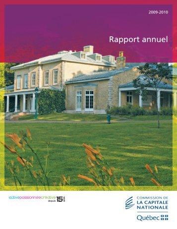 Rapport annuel 2009-2010 - Commission de la capitale nationale ...