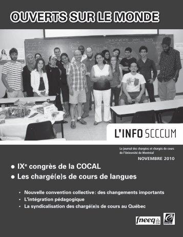 OUVERTS SUR LE MONDE - SCCCUM - Université de Montréal