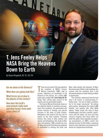 T. Jens Feeley Helps NASA Bring the Heavens Down to Earth