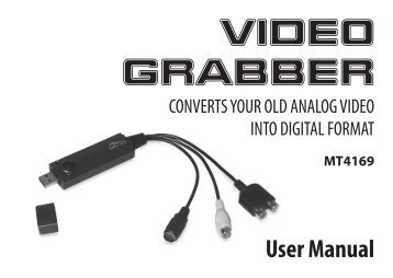 User Manual VIDEO GRABBER - Media-Tech Polska