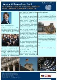 Annette Widmann-Mauz MdB Aus dem Parlament