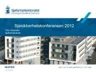 Sjøsikkerhetskonferansen 2012 - Sjøfartsdirektoratet